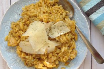 5-Ingredient Chicken and Pumpkin Orzotto