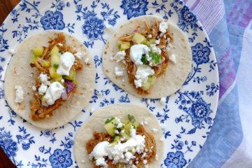 Slow Cooker Chicken Al Pastor Tacos