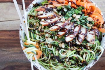 Chicken Zucchini Noodle Bowl
