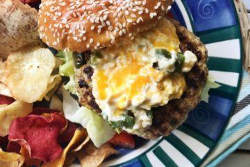 Jalapeno Popper Chicken Burgers