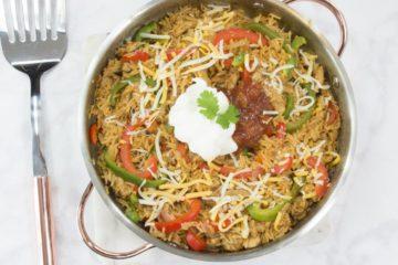 One-Pot Chicken Fajita Rice Dinner